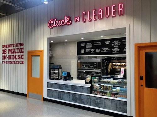 Interior of Cluck and Cleaver Restaurant