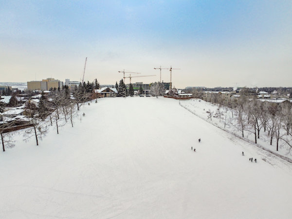 Calgary Tobogganing at St. Andrews Heights