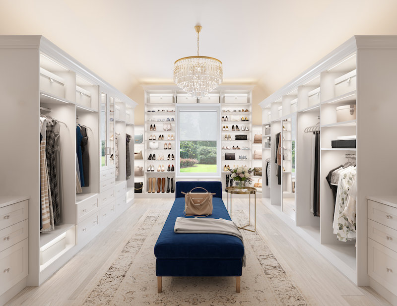 A Traditional California Closets High End Luxury Closet