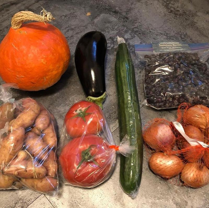 Vegetables sourced locally in Calgary from YYC Growers